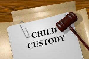 Render illustration of Child Custody title on Legal Documents